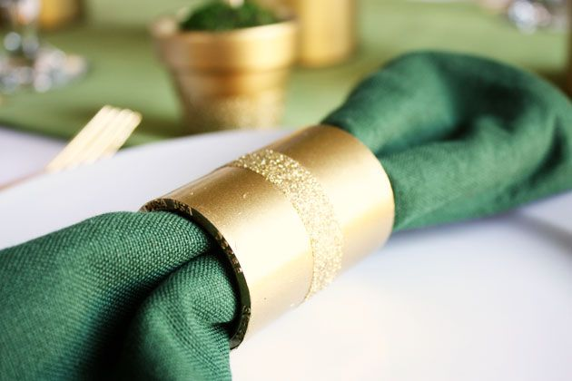 DIY napkin rings made from inexpensive PVC couplings! from Celebrations At Home