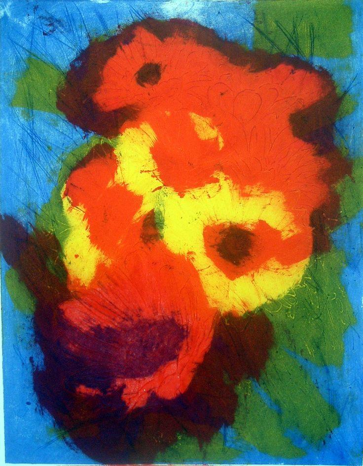 Printmaking -Flowers on The Loop