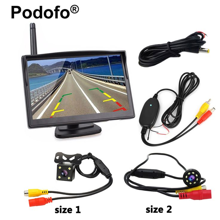"Wireless Car Backup Camera System 5""Vehicle Rearview Monitor 8 LED Night Vision Camera 170 Degree Wide View Monitors Car-styling"