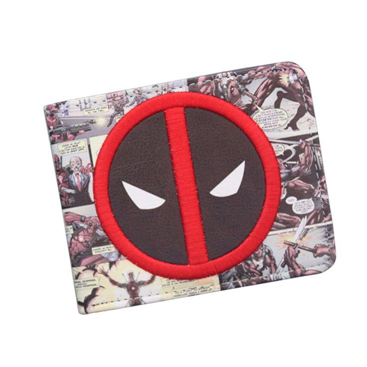 새로운 디자이너 2016 데드 풀 지갑 학생 DC 코믹 만화 지갑 & 지갑 ID 신용 카드 홀더 가죽 가방 멋진 지갑