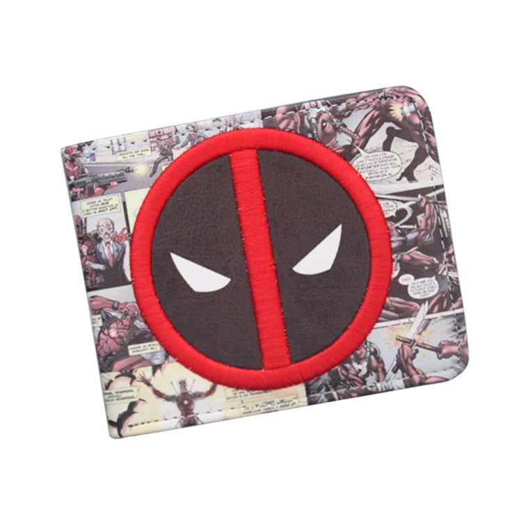 New Designer 2016 DEADPOOL WALLET Student DC Comics Cartoon Wallet & Purse ID Credit Card Holder Leather Bag Cool Wallet For Men