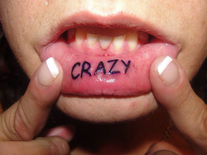 Bottom Lip Tattoo Quot Crazy Quot Tattoos Piercings Pinterest Lips Tattoos And Body Art And Lip