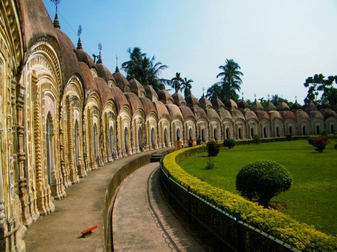 The 108 Shiva Temple Complex is one of the most attractive sites in #Kalna, West Bengal