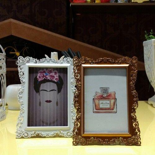 Porta Retrato Ornamental Branco #presentes #rua #augusta #casaequipada #retro