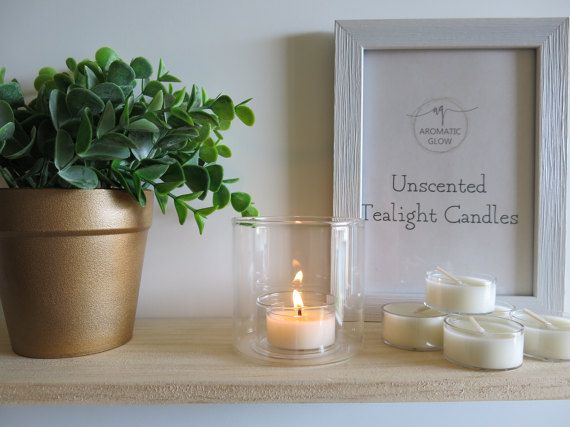 6 Tealight Candles Unscented candles Australian seller Home