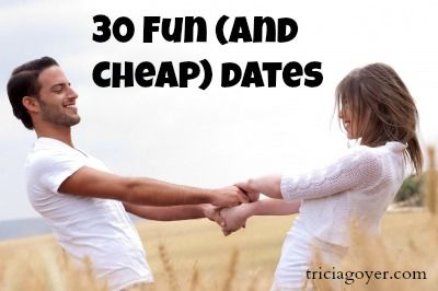 30 Fun (and cheap) dates for couples! #marriagerocks
