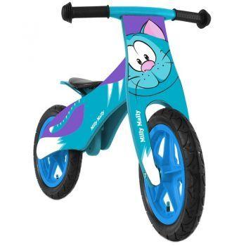 Bicicleta din lemn pentru copii Milly Mally Duplo Cat, fara pedale