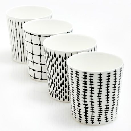 Bono Monochrome Cup Set of 4