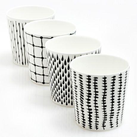 Bono Monochrome Cup Set of 4