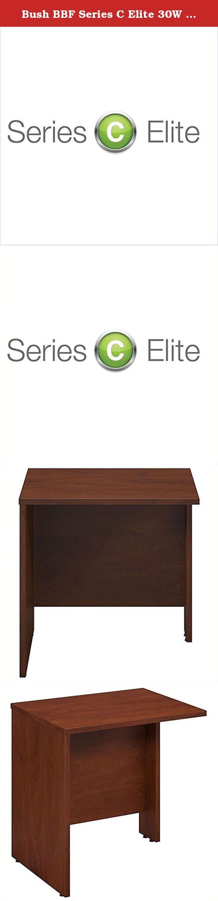 Bush BBF Series C Elite 30W x 24D Bridge-Return in Hansen Cherry. Manage your changing workspace with Series C Elite 30W x 24D Bridge/Return in Hansen Cherry inspires you to personalize your office design. It works as a bridge between two desks or a return to form an L shaped desk configuration. This component must be attached at both ends to a Desk, Credenza and Return or Return/Bridge, and is not freestanding. The thermally fused laminate construction delivers strength and durability…