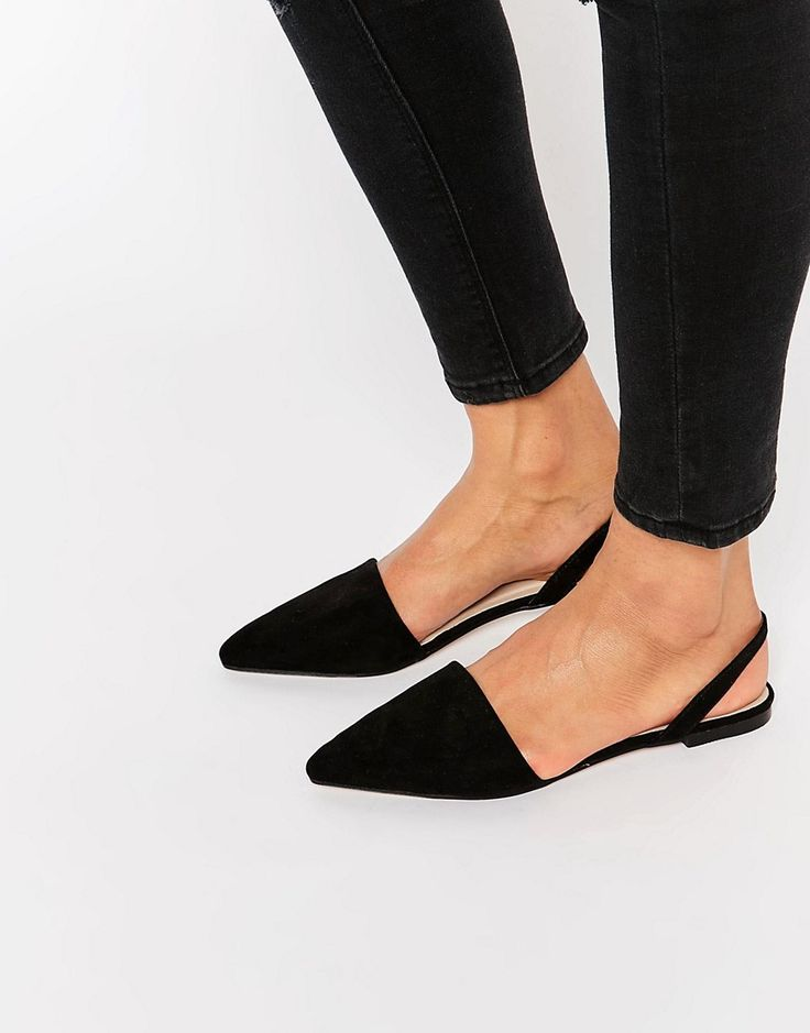 Image 1 of ASOS LAINEY Pointed Sling Back Ballet Flats
