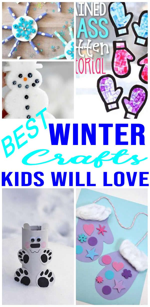 Easy Kids Winter Crafts Diy Winter Craft Ideas Creative For