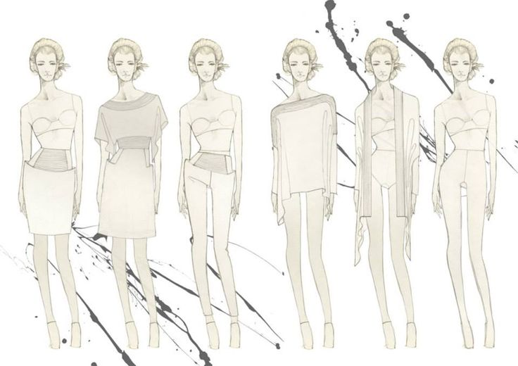 Fashion illustration for Nanso. Paint and pencil by Vilma Riitijoki
