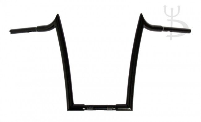 "Mayhem Black 16"" Rise Meathooks Ape Hangers 1-1/4"" Handlebars for Harley Motorcycles"