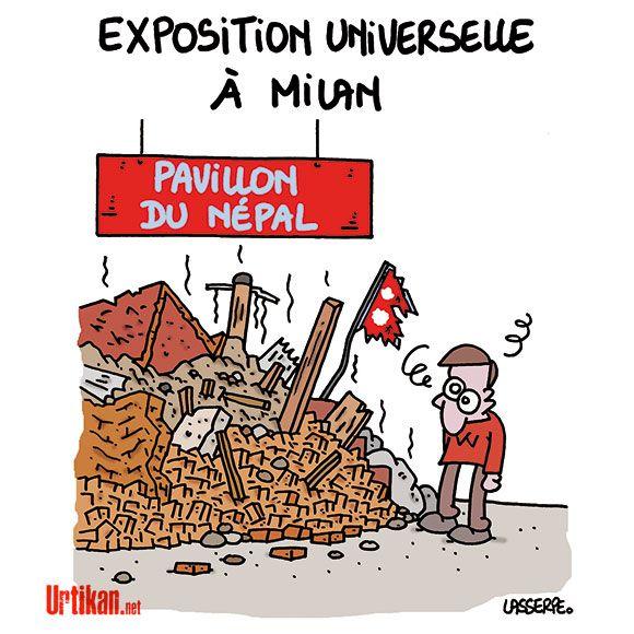 Après le séisme, le Népal a besoin de plus de soutien - Dessin du jour - Urtikan.net