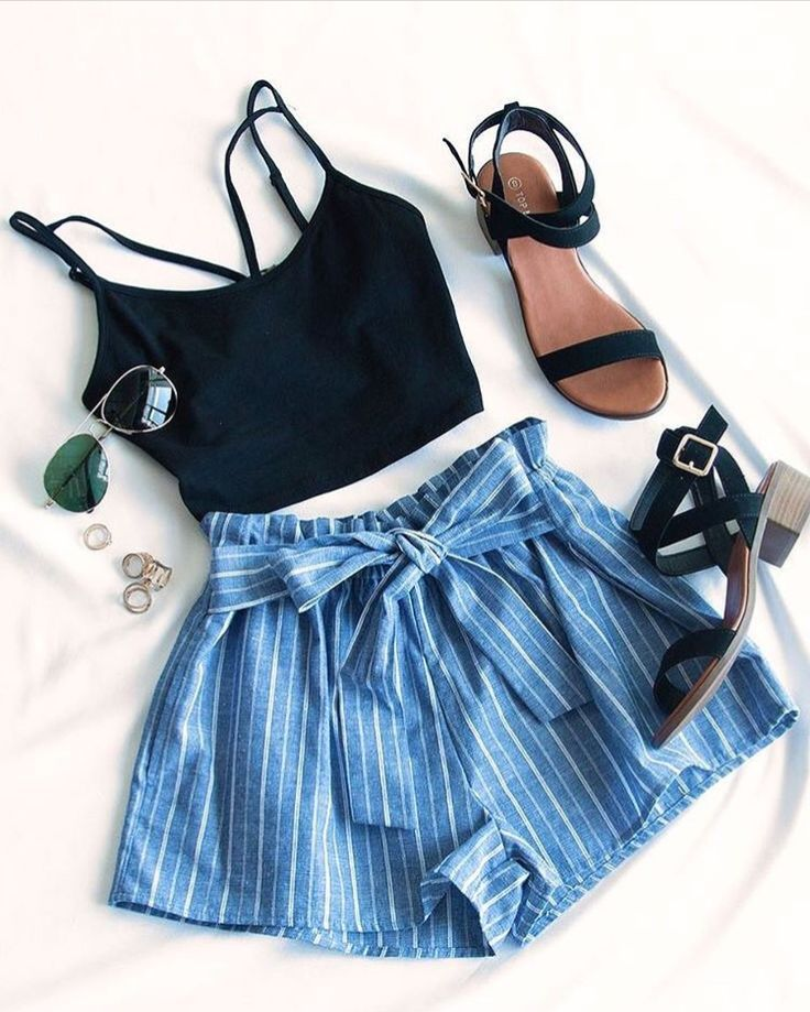 summer outfits • fashion • womens fashion • clothes • shorts • shoes... 1