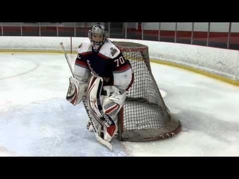 Ice Hockey Drill - Push, Stop, Recovery Goalie Drill - YouTube