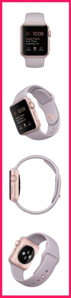 Gorgeous Apple Watch Sport in Rose Gold