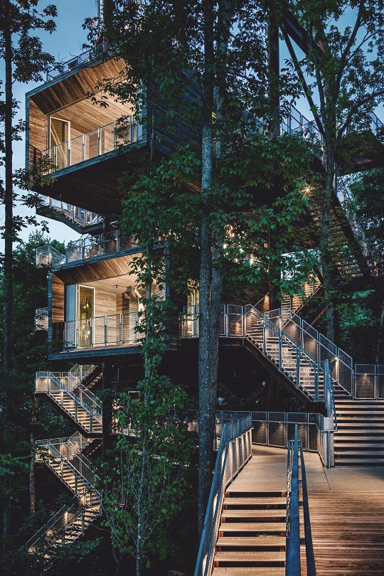 livingpursuit: Sustainable Treehouse by Mithun #containerhome #shippingcontainer