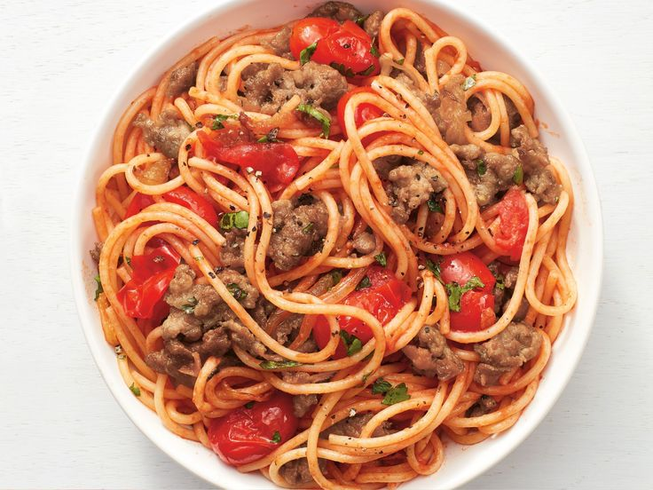 One-Pot Spaghetti with Sausage recipe from Food Network Kitchen via Food Network