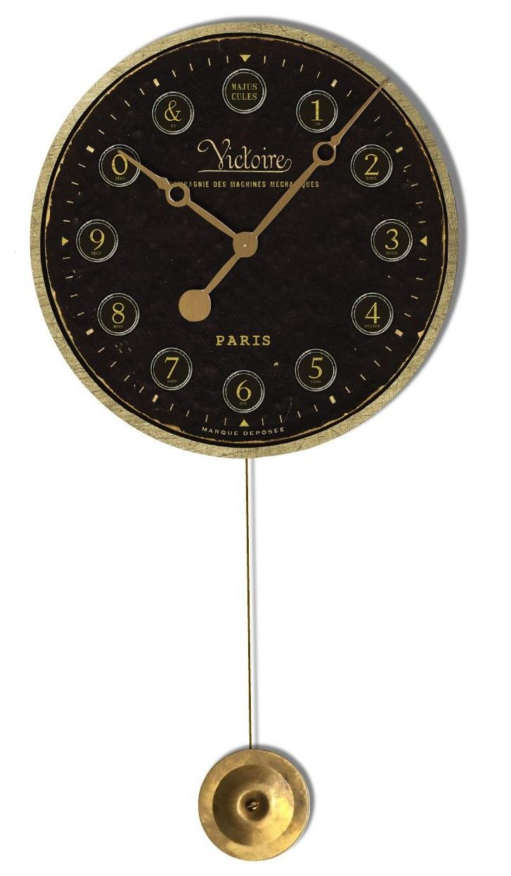 Am americana country wall clocks - With A Stunning Combination Of Black And Copper This Victoire Pendulum Wall Clock Will Surely Stand Out In Any Room It Has A Quiet Quartz Movement And Runs