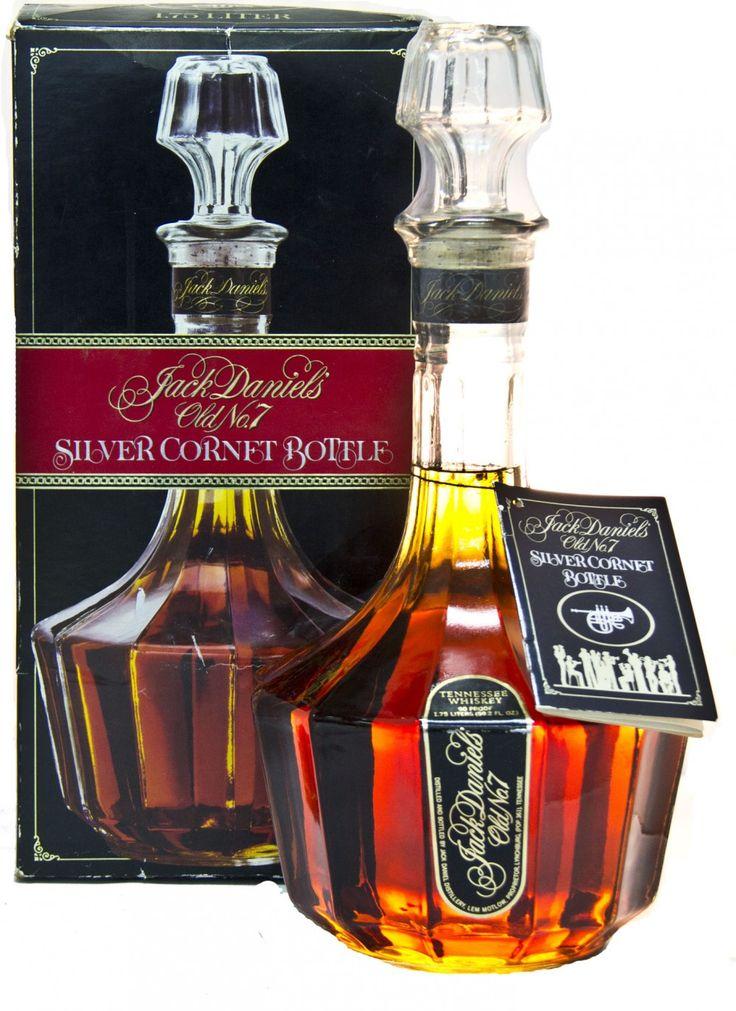 Jack Daniels Silver Cornet Decanter May 1986 1 75 L 90