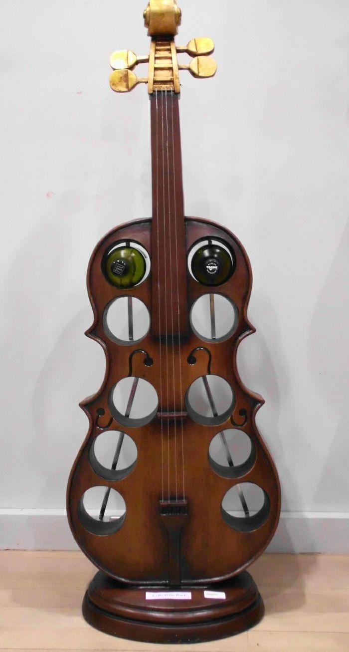 Upcycling Ideen Dekoideen Deko Wohnzimmer DIY Kreativ Gitarre Weinregal2