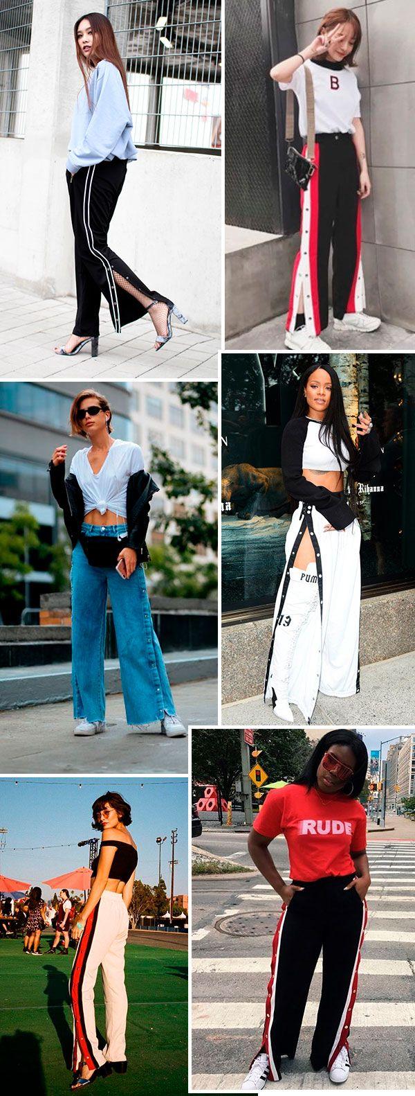 A calça mais cool da temporada. Snap pants é queridinha do street style.