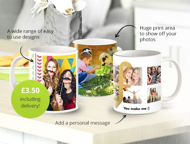 Get a personalised mug for just £3.50 DELIVERED. Hurry though it i for today only! Check freebie Quote code: MAYDAY17