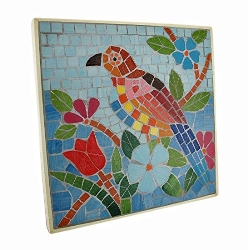 Plaques n Wall Art  Tropical Mosaic Tile Parrot Wall Plaque Outdoor Décor <3 This is an Amazon Associate's Pin. Click the VISIT button to find out more on the website