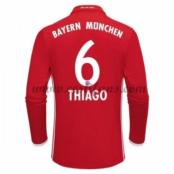 Bayern Munich Fotbalové Dresy 2016-17 Thiago 6 Domáci Dres Dlouhým Rukávem