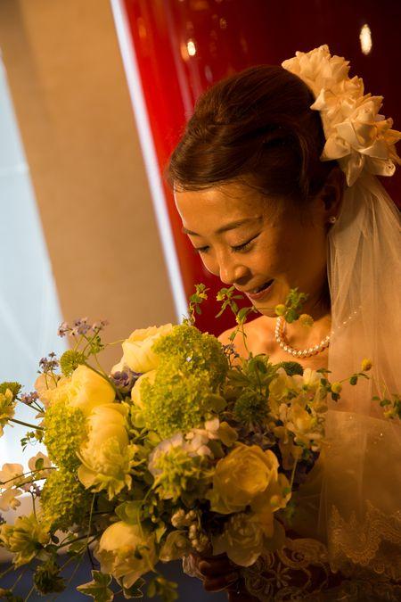 新郎新婦様からのメール ふるさとの記憶2 古城 浦安ブライトンホテル様へ : 一会 ウエディングの花
