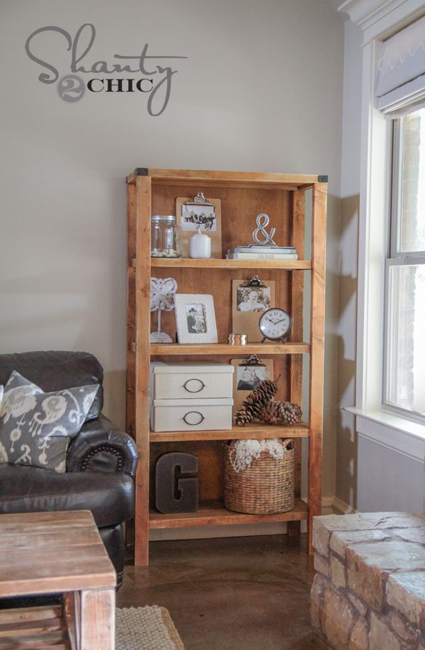 Best 25 diy bookcases ideas on pinterest diy projects for Homemade bookcase ideas