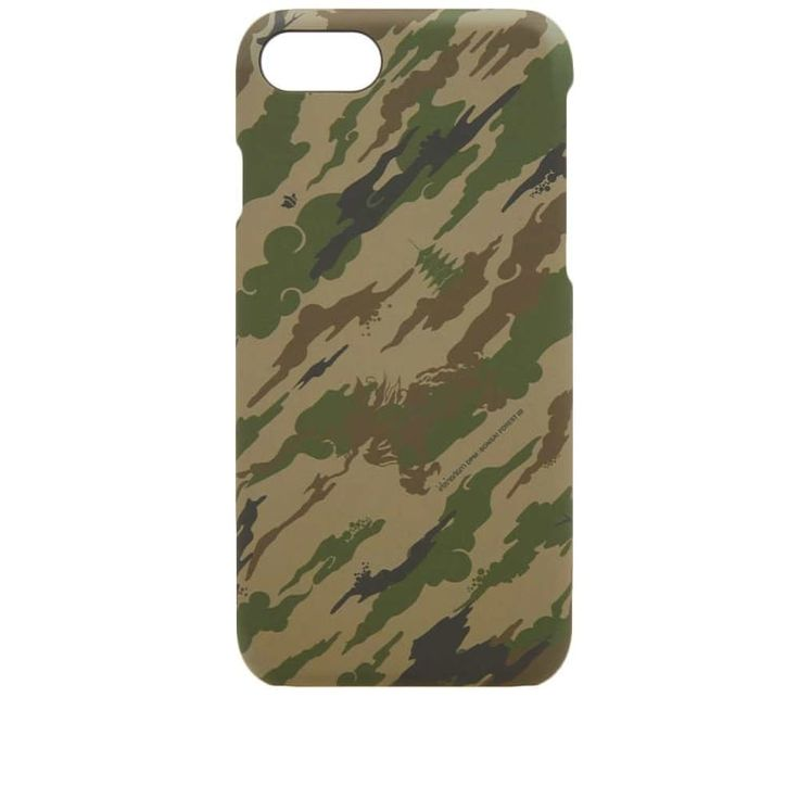 Defined by its cloud-like camo, Maharishi deliver this iPhone case in military greens; providing style and protection to your most valued accessory. A hard plastic shell refines this piece, ensuring a streamline appearance and a slick finish with shielding force. iPhone 7/8 Compatible Plastic Hard-Shell Construction Camo Design