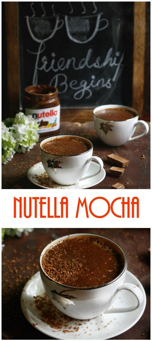 nutella mocha== probably the one of few mocha drinks, I'll drink...nutella anything <3