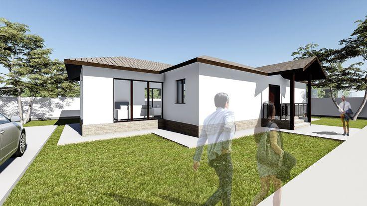 Proiect casa LUMIS. Parter   3 camere   104mp. Mai multe detalii gasiti aici: http://uberhause.ro/proiect-casa-parter-104-m2-lumis