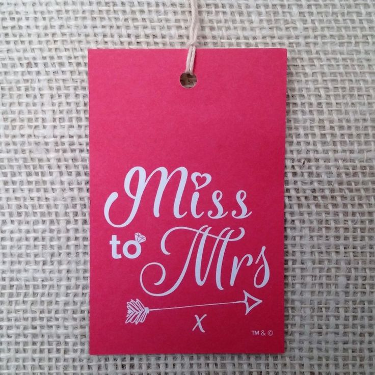 Miss To Mrs ™ Hen Party Gift or Goody Bag Tags by Joy Celebrations.Sophisticated Hen Do Accessories with Style.Original Design | Premium Quality | Designed & Made in Britain.    #MissToMrs #Hen #Bride #HenDo #HenParty #BrideToBe #Engaged #Engagement #GettingMarried #Marriage #Wedding #JoyCelebrations