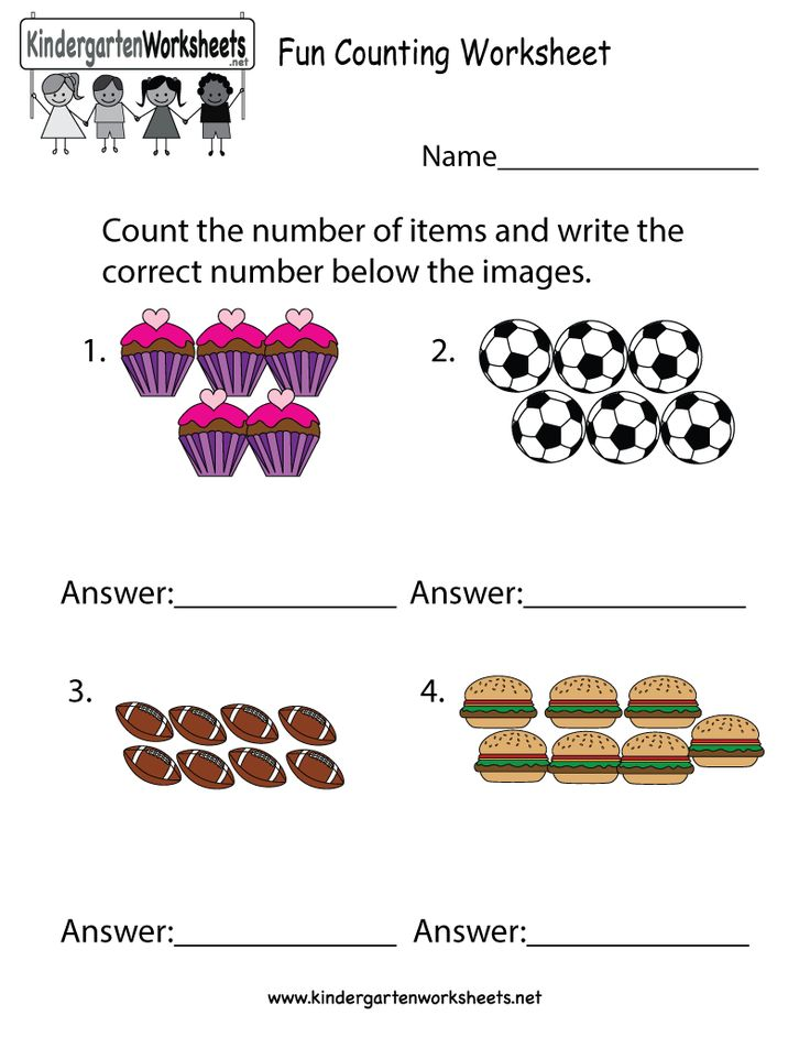 This is a fun counting worksheet for kids in preschool or kindergarten. You can download, print, or use it online.