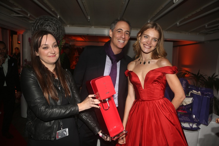 Super model Natalia Vodianova and her signed Source! #Cannes2013
