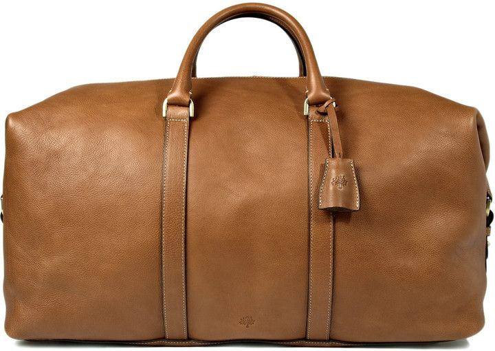 €2,171, Fourre-tout en cuir brun Mulberry. De MR PORTER. Cliquez ici pour plus d'informations: https://lookastic.com/men/shop_items/142932/redirect