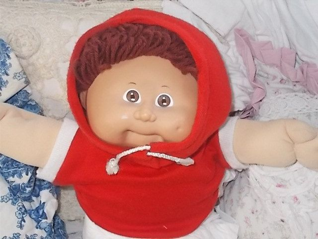 Cabbage Patch Doll, Vintage Cabbage Patch Doll, Xavier Roberts, Looped Brown Haired Cabbage Patch Doll, Dolls ,Vintage Dolls, S by Daysgonebytreasures on Etsy