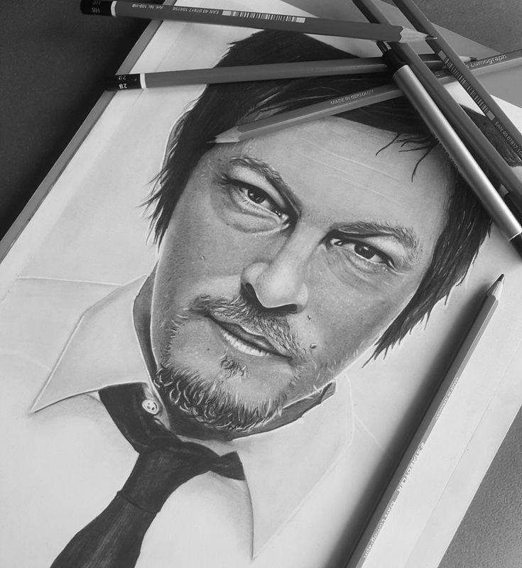 Norman reedus portrait