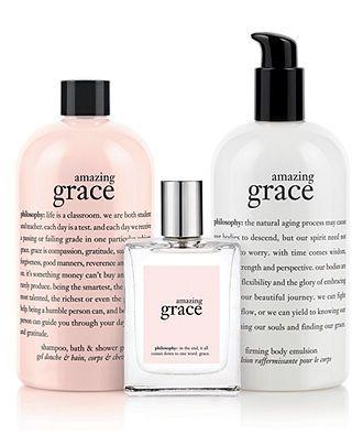 philosophy amazing grace collection - Makeup - Beauty - Macy's