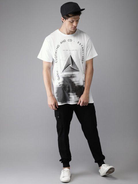 4486175ff Buy Moda Rapido Men White Printed Round Neck T Shirt - Tshirts for Men  4331670 | Myntra