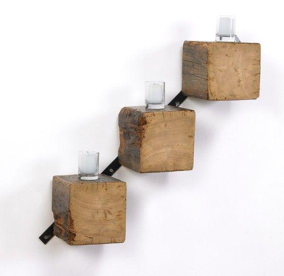 Beam Regale aufgearbeiteten Holz und Metall auf dem von ShopGatski