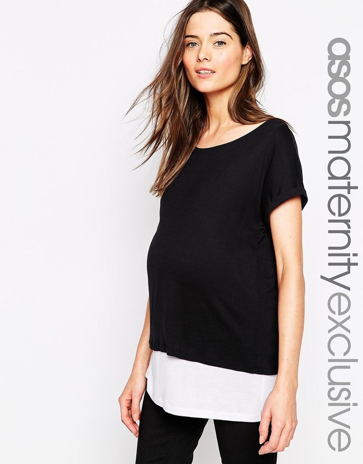 £22 ASOS+Maternity+NURSING+T-Shirt+With+Double+Layer