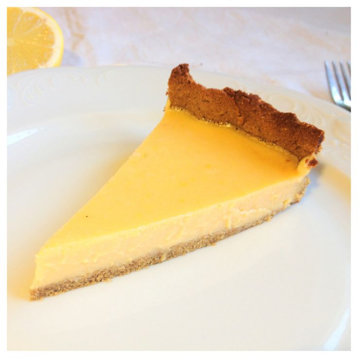 Lemon Tart with Coconut Cream (gluten & dairy-free, can be made LCHF)