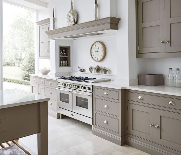 Color Palette To Go With Our Oak Kitchen Cabinet Line: Grey And White Kitchen
