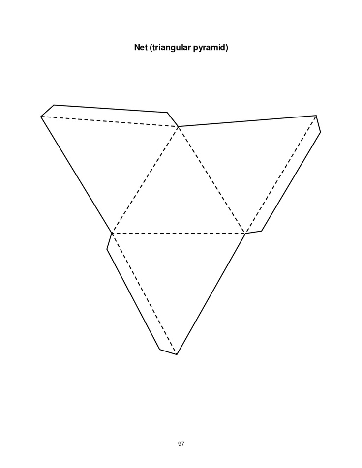 triangular pyramid template geometrische figuren. Black Bedroom Furniture Sets. Home Design Ideas