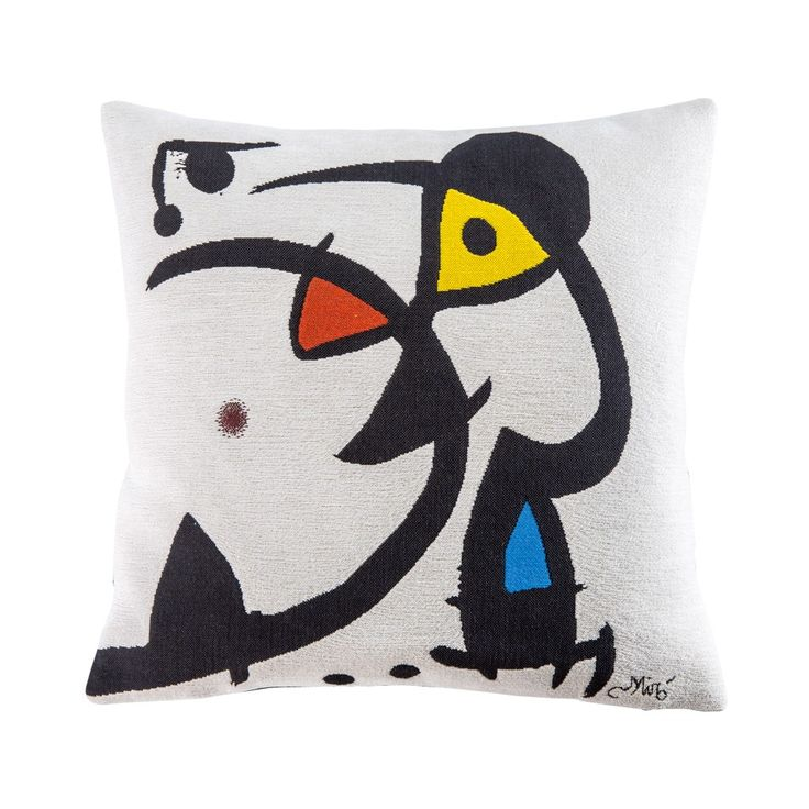 Joan Miro White Tapestry Woven Cushion Cover - Cushions & Throws - Home Accessories - The Conran Shop